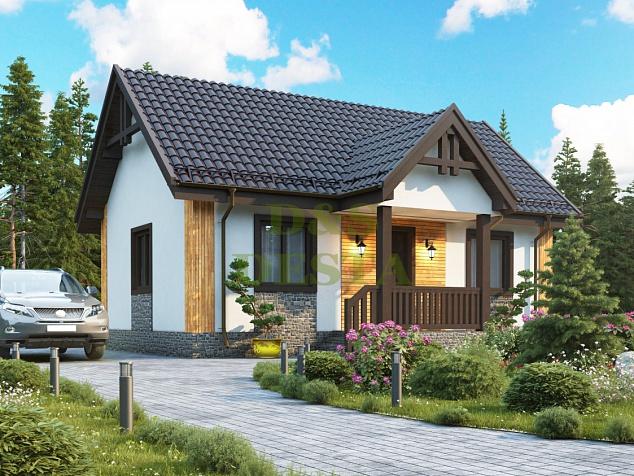 Проект каркасного дома КР-4